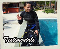 Clients scuba training testimonials